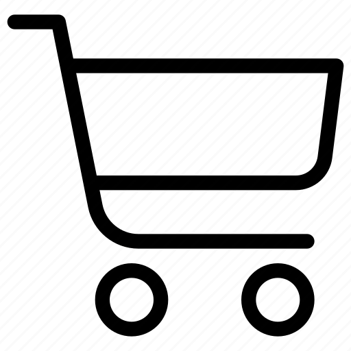 carriage, cart, e-commerce, line-icon, shopping, shopping-cart, trolley icon