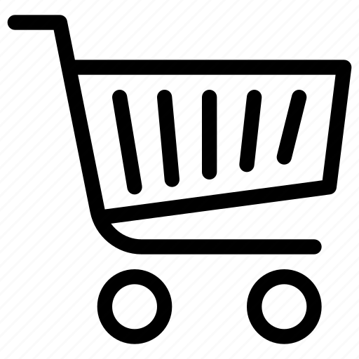 basket, carriage, cart, e-commerce, line-icon, shopping, trolley icon