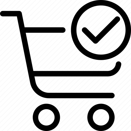 cart, cart-done, done, e-commerce, finish, line-icon, shopping icon