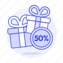 box, coupons, discount, gift, percent, sale, sales, shop, shopping, store
