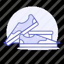 experience, footgear, footwear, green, shoe, shopping, sneakers, tennis icon