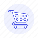cart, carts, department, empty, market, shopping, store, super icon