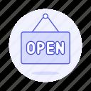 board, open, shopping, shops, sign, store