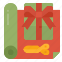 gift, wrapping, present, box, service icon