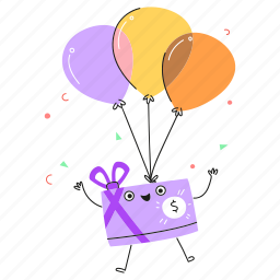 commerce, store, baloons, gift, reward, shopping, prize, present, card