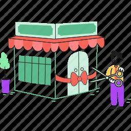 scissors, store, market, ribbon, inauguration, shop, cut, shopping