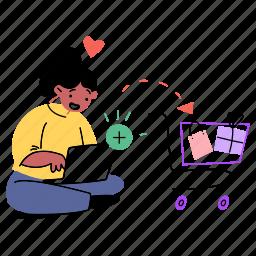 add, to, cart, shop, shopping