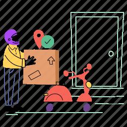 order, delivered, delivery, courier, package