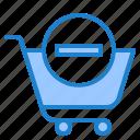 shopping, cart, online, trolley, delete