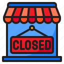 closed, shop, market, store, shopping