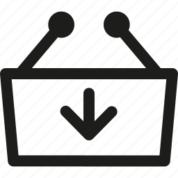 arrow, basket, buy, in, shopp, shopping icon