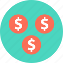 check, currency, dollar, dollars, now, pay, signs icon