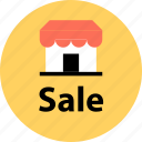 find, locate, merchandise, owner, sale, shop, store icon