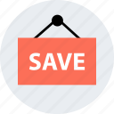 online, save, savings, shop, shopping, sign icon