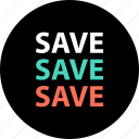 big, discount, huge, online, save, savings, store icon