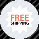free, now, save, savings, ship, shipping, tag icon