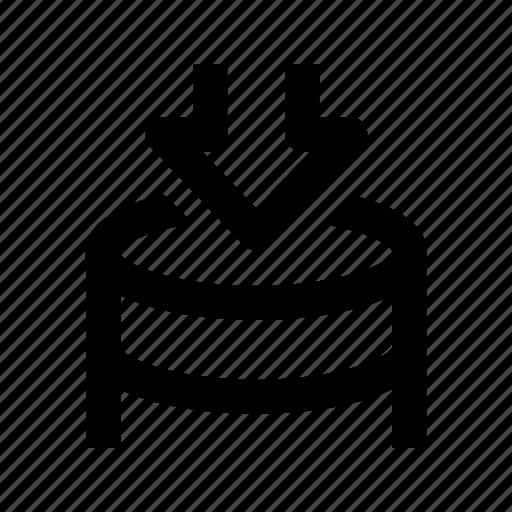 alico, coin, down, saving, shopping icon