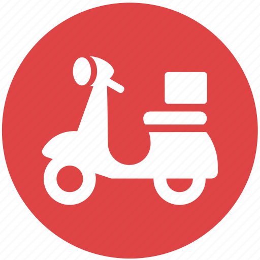 delivery, motorcycle, scooter, shopping, vespa icon