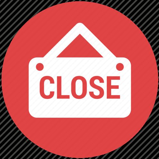 close, close shop, label, shopping icon