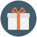 gift, gift box, gift package, present, present box, ribbon, surprise icon icon