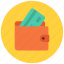 cash, dollar, money, payment, shop, shopping, wallet icon icon