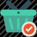 basket, check, select, shopping icon icon