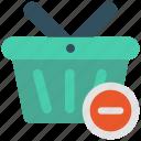 basket, delete, minus, shop, shopping icon icon