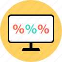 money, pay, percent, percentage, rate icon