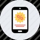 online, percentage, phone, rate, revenue icon