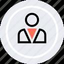 boss, customer, person, profile, student, user icon