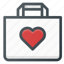 action, bag, buy, favorite, love, paper, shopping icon