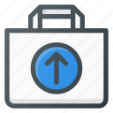 action, bag, buy, output, paper, shopping icon