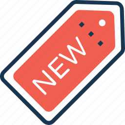 label, new, new offer, new product, tag icon