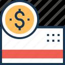banking, card, credit card, dollar, plastic money icon