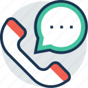 communication, help, phone, receiver, talk icon