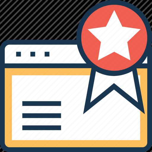 bookmark, favorite, internet, star, web icon