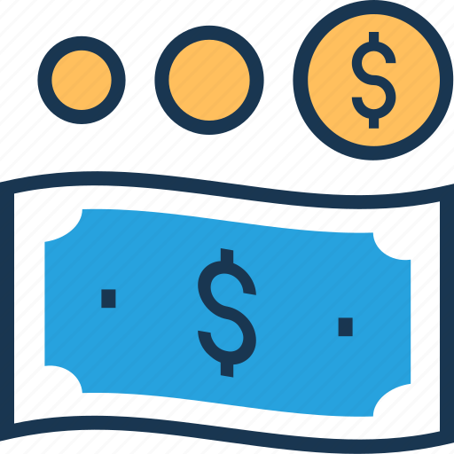 banknote, coin, currency note, dollar, dollar note icon