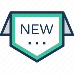 label, new, new offer, new product, sticker icon