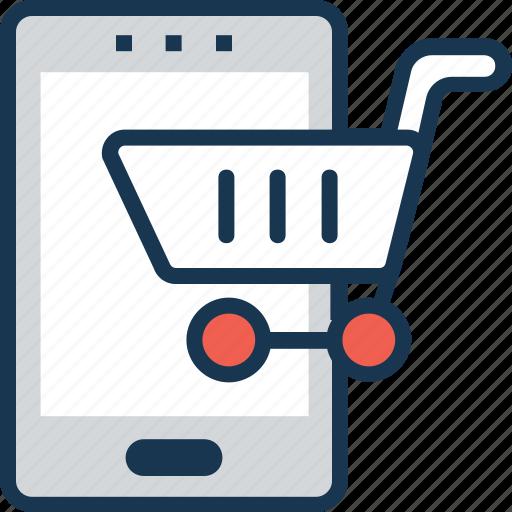 app, cart, m commerce, online shopping, shopping app icon