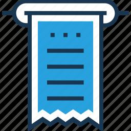 bill, payment, receipt, voucher, withdrawl icon