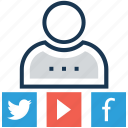 chat, chatting, facebook, social media, user icon