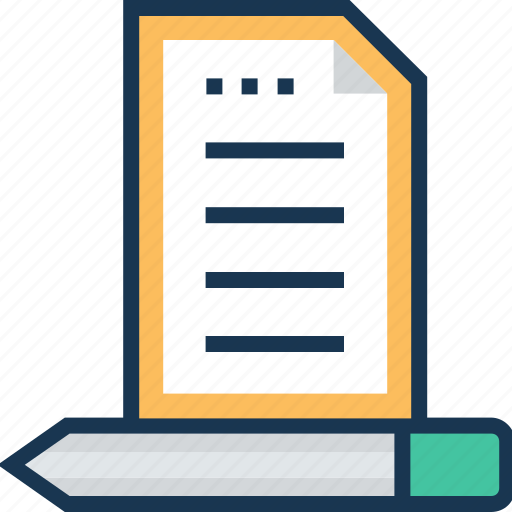 composing, list, paper, pencil, writing icon