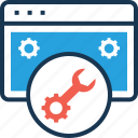 development, preferences, programming, spanner, web settings icon