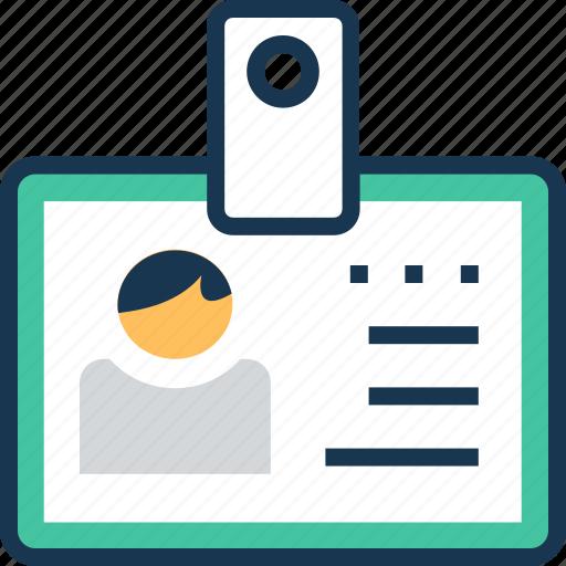 badge, card, id, identity card, volunteer card icon