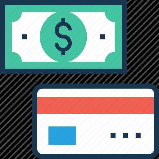 banking, cash, credit card, money, plastic money icon