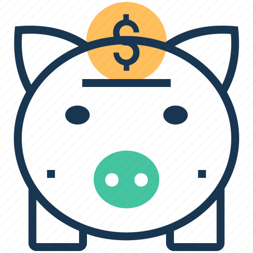 cash bank, dollar, money bank, money box, piggy bank icon