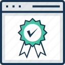 award, premium, prize, reward ribbon, web icon