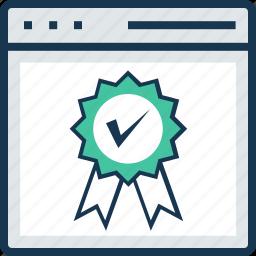 award, premium, prize, reward ribbon, web icon