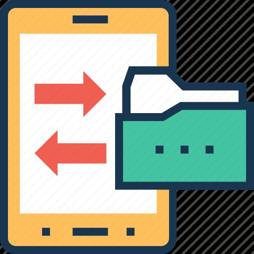 data, data share, folder, mobile data, share icon