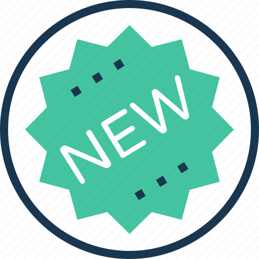 new, new product, offer, shopping, sticker icon